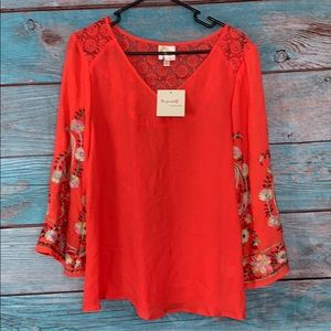 Anthropologie Fig and Flower Top Boho Large NWT